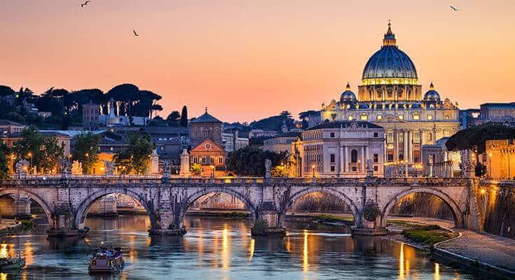 Sunset Photography Basilica St Peter Rome